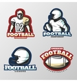 American Football Tournaments Logos vector image