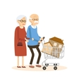 Seniors Couple Buying a Home vector image vector image