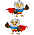 Super Bald Eagle Character 2 Vector Image