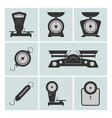 set of weighing machines vector image vector image