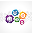business icons in cog wheel vector image