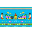 Visit Again Poster vector image