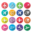 Plane flight airport - flat design icons vector image