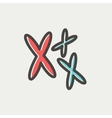 Chromosomes thin line icon vector image