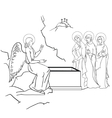 scene of Mary Magdalene vector image