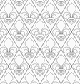 Shades of gray contoured Fleur-de-lis vector image