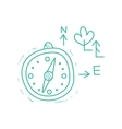 Compass And Symbolic Map Trees Signs vector image