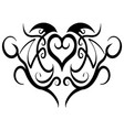 abstract heart tribal tattoo design vector image