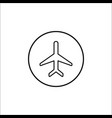 airplane mode line icon mobile sign vector image