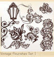 collection vintage design elements vector image