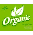 Concept organic banner vector image