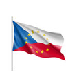 czech republic national flag with a circle of eu vector image