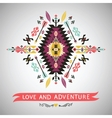 Decorative colorful element in aztec style vector image