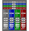 Navigation menu and website elements vector image