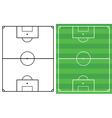 soccer fields vector image