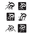 Spinning cycling icons vector image