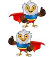 Super Bald Eagle Character 2 vector image
