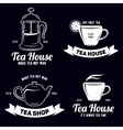 Tea related labels and quotes setDesign elements vector image