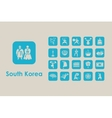 Set of South Korea simple icons vector image