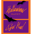 happy helloween lettering handwritten vector image