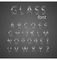 Glass alphabet vector image
