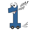 Number one cartoon vector image vector image