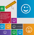 Winking Face icon sign Metro style buttons Modern vector image