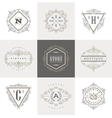 Set of Monogram calligraphic logo vector image vector image
