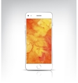 Vactor realistic white phone with watercolor vector image