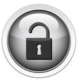 padlock unlocked icon vector image vector image