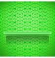 Green Shelf on Ornamental Lines Background vector image
