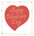 Hand drawn Valentines Day poster vector image