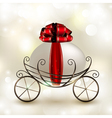 Easter basket carriage vector image