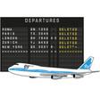 departure vector image vector image