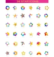 collection of star icons vector image