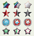 Set Of Rating Stars vector image vector image