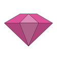colorful diamond stone cartoon vector image