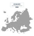 europe map gray color separated all countries vector image
