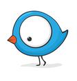 funny cartoon bird vector image