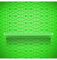 Green Shelf on Ornamental Lines Background vector image
