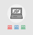 icon of laptop several color options vector image