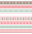 set of seamless ribbons vector image