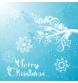 template christmas greeting card vector image