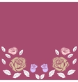 Greeting card roses wedding birthday holiday vector image
