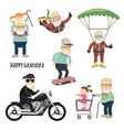 happy grandpa after retirement vector image