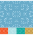 set - floral patterns vector image
