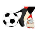 A sporty and elegant woman vector image