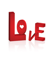 Love front vector image