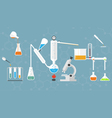 Chemical lab tubes system vector image