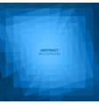 Abstract Blue Geometric Tunnel Background vector image